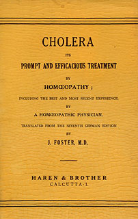 Cholera its Prompt & Effective Treatment, J. Foster