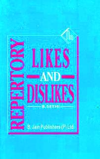 Repertory of Likes and Dislikes, B. Sethi