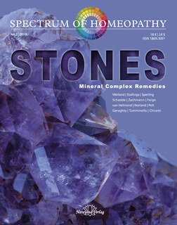 Spectrum of Homeopathy 2019-3, STONES - Mineral Complex Remedies - E-Book, Narayana Verlag
