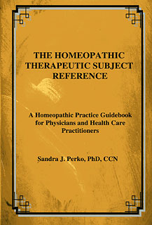 The Homeopathic Therapeutic Subject Reference, Sandra Perko